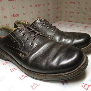 Merrell Realm Brown Leather Oxford Shoes Lace Up